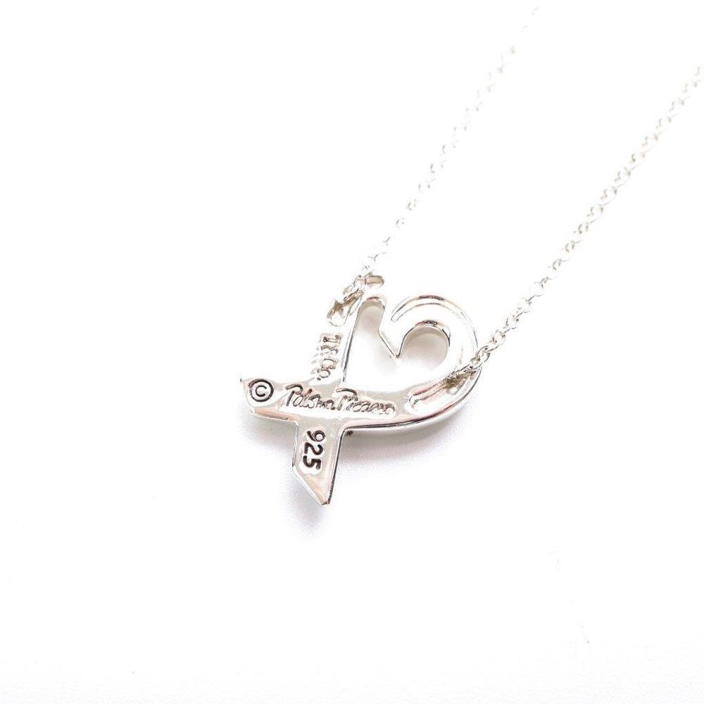 Tiffany Loving Heart Sterling Silver 925 Diamond Women's Pendant (Silver)