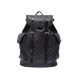 ルイ・ヴィトン(Louis Vuitton) ルイヴィトン グラフィット クリストファーPM 黒 N41379 メンズ 本革 バックパック リュック ABランク LOUIS VUITTON 中古 銀蔵