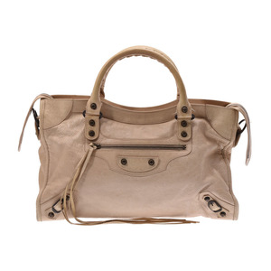 Balenciaga The City Beige Women's Leather 2 Way Handbag B Rank BALENCIAGA Used Ginza