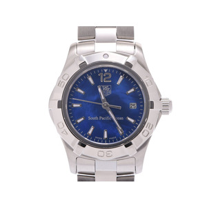 TAG Heuer South Pacific Ocean 200 Limited Aqua Racer Blue Shell Dial WAF 141 P Women's SS Quartz Wrist Watch Used Ginza