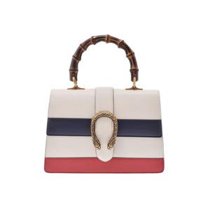 Gucci Dionysos Top Handle Bag Medium Ivory Womens Calf Bamboo 2 WAY