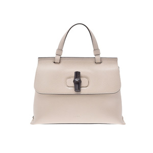 Gucci Bamboo Daily Ivory Women's Calf 2 Way Bag AB Rank GUCCI Used Ginza