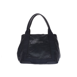 Balenciaga Navy Cabas S Women's Leather Handbag Tote B Rank BALENCIAGA Used Ginza