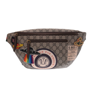 Gucci GG Supreme Courier belt bag men's lady's PVC leather body waist pouch new same beautiful goods GUCCI secondhand silver store