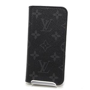 LOUIS VUITTON Louis Vuitton Monogram Eclipse Folio iphone X Case M63446