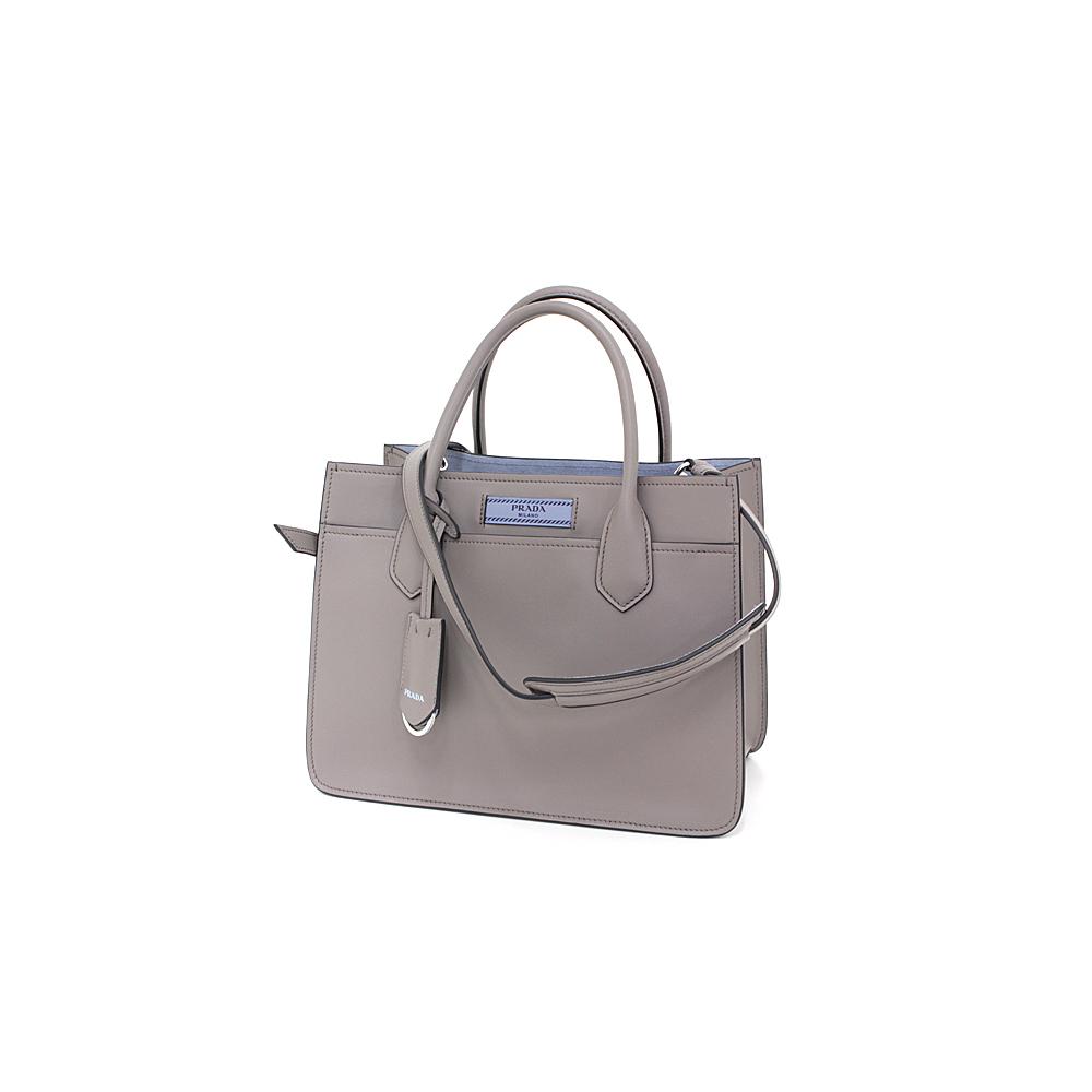 b684a0b71201 Prada PRADA Dual Bag Gray Calf Tote 2 WAY Shoulder 1 BA 178 Unused item  with pouch