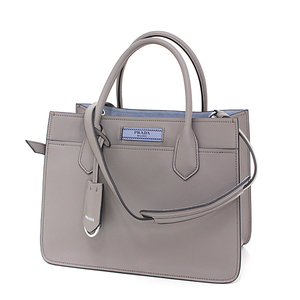 Prada PRADA Dual Bag Gray Calf Tote 2 WAY Shoulder 1 BA 178 Unused item with pouch