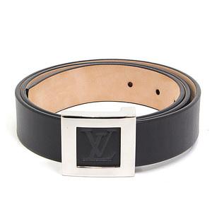 LOUIS VUITTON Louis Vuitton Mens Leather Belt 85 34 Black Like New