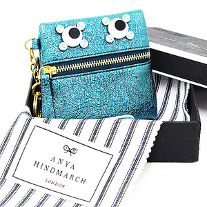 Anya · Hindmarch ANYA HINDMARCH Coin Purses Blue Leather A Rank