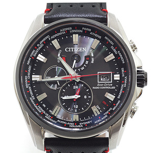 CITIZEN Citizen Men's Watch Double Direct Flight H820 - T021719 Black (Black) Dial Solar Radio controlled