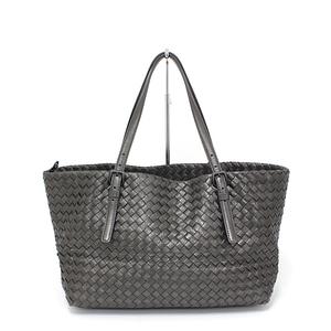Bottega Veneta BOTTEGA VENETA Intorechatogurorantotobaggu metallic gray shoulder bag