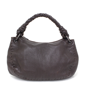 Bottega Veneta BOTTEGA VENETA Leather One Shoulder Bag Dark Brown Lamb