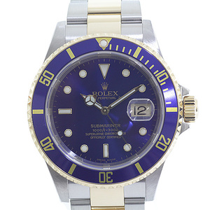 ROLEX Rolex Men's Watches Submariner Date 16613 F (Made in 2004) Blue (Blue) Dial Sub Submitted OH