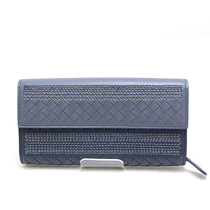 Bottega Veneta Bottega · Veneta Intrecciato Nappa Continental Wallet 150509 Blue series unused item