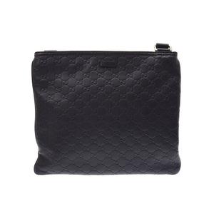 Gucci Shima Shoulder Bag Black Men's Leather AB Rank GUCCI Used Ginza