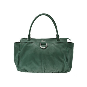 Gucci Tote Bag Green Ladies Leather Outlet AB Rank GUCCI Used Ginza