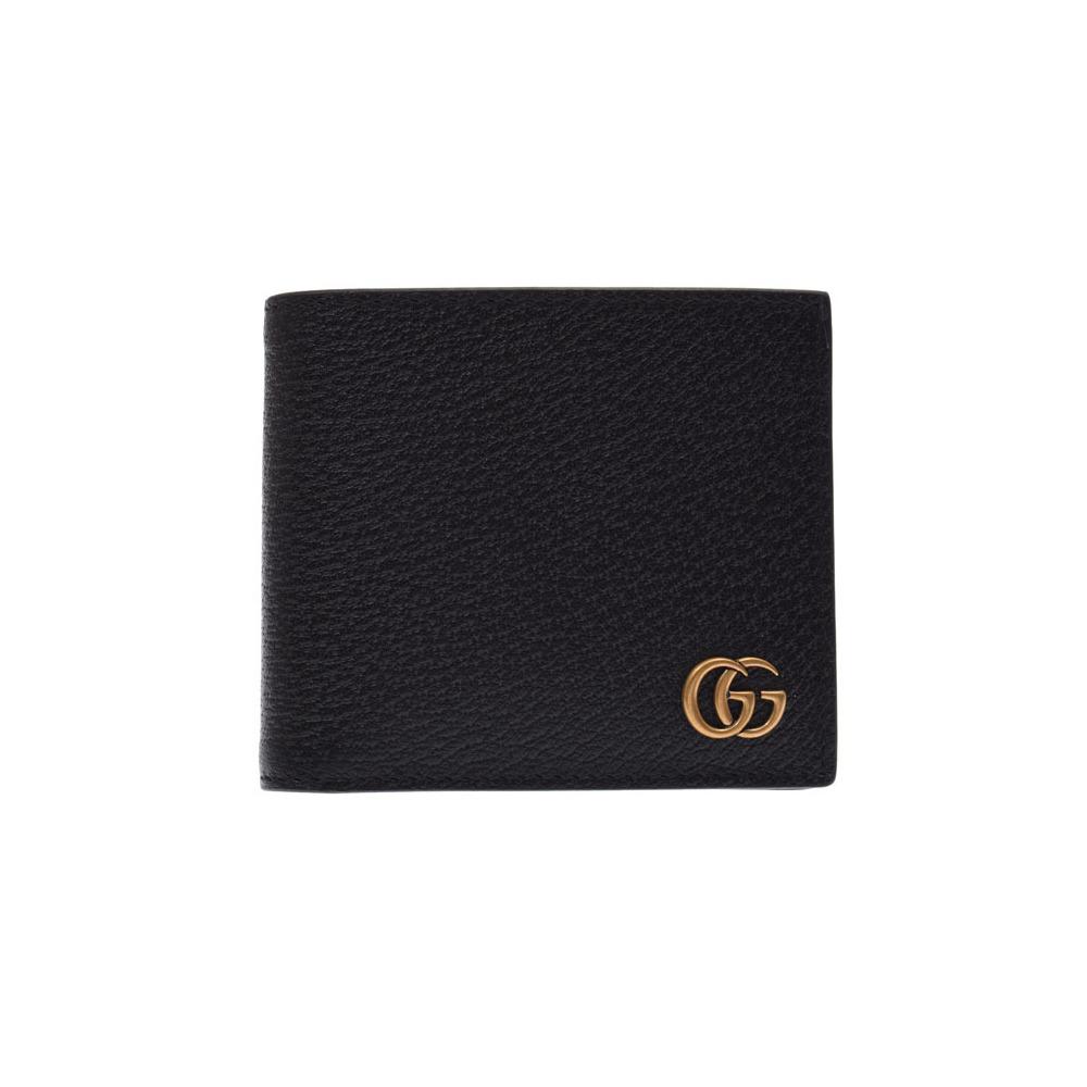 57b59560120d グッチ(Gucci) グッチ GGマーモント 二ツ折財布 黒 メンズ レディース カーフ 未