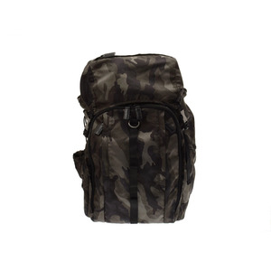 Prada Backpack Khaki / Black Camouflage Pattern Men's Women's Nylon A Rank PRADA Used Ginza