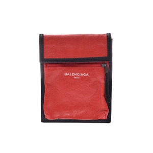 Balenciaga Explorer Porch Rouge Men's Lambskin A rank 美 品 BALENCIAGA second hand silver storage