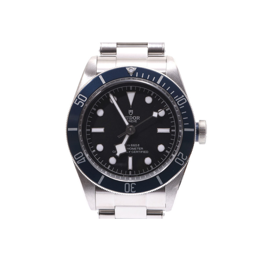 Tudor Heritage Black Bay Blue Bezel 79230B Men's SS Automatic Volume Watch A Rank beautiful item TUDOR Box Galleries Used Ginza