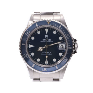 Tudor Submariner Blue Dial 75090 Men's SS Automatic Watch Wrist AB Rank TUDOR Galler Used Ginza