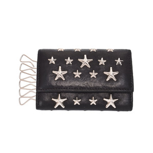 Jimmy Choo six consecutive key case studs black men's calf B rank JIMMY CHOO second hand silver storage