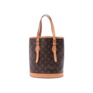 Louis Vuitton Monogram Bucket S Brown M42238 Ladies Leather Bag AB Rank  LOUIS VUITTON Pouch Used 578663e220dd1
