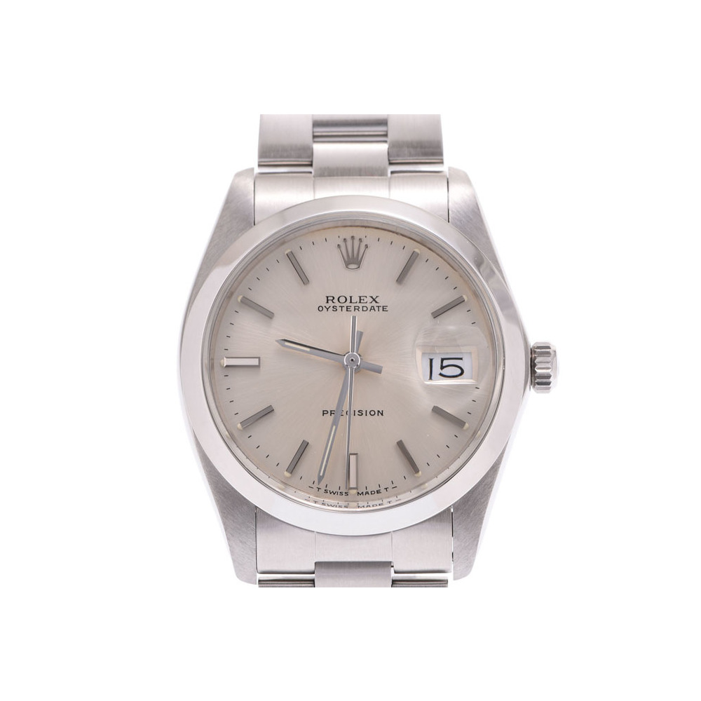 Rolex Oyster Perpetual Silver Dial 6694 Men's SS Hand-wound Wrist Watch A rank 美 品 ROLEX Used silver storage