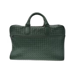 Bottega Veneta document bag 2WAY Intorechat green men s leather briefcase B rank  BOTTEGA VENETA strap attaching 09131b2aea975