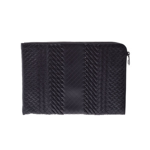 Bottega Veneta Document Case Impeller Torre Black Men's Women's Calf Clutch Bag New Shimami Item BOTTEGA VENETA Used Ginza