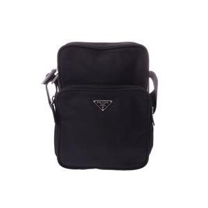 Prada shoulder bag black BT0169 Men's ladies nylon A rank beautiful goods PRADA GALA second hand silver storage