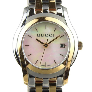 3bb922f7a92 Genuine GUCCI Gucci Women s Quartz Wrist Watch Shell Dial  Model Number   5500L