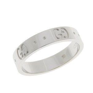 Genuine GUCCI Gucci K18 WG icon ring