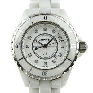 Genuine CHANEL Chanel J12 Ladies quartz wrist watch 12P diamond pattern number: H1628