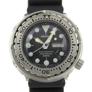 Authentic SEIKO Seiko Marine Master Men's Quartz Wrist Watch 7C46-0AC0