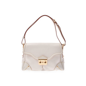 Louis Vuitton Suhari Resensial White G Hardware M95845 Ladies Leather One Shoulder Bag A Rank beautiful item LOUIS VUITTON Used Ginza