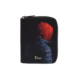 Dior Homme Compact Wallet Black Francois · Bird Print Men's Women's Nylon / Calf A Rank Purse DIOR HOMME Box Used Kinzo
