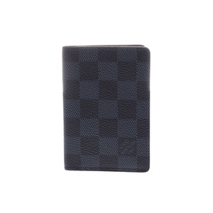 Louis Vuitton Damier Cobalt Organizer Do Possh Vertical Business Card Holder N 63210 Men's Genuine Leather LOUIS VUITTON