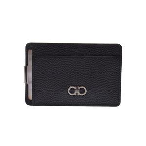 Salvatore Ferragamo Ferragamo Gancini with Passport Case Black Men's Leather Card New same Beauty Item FERRAGAMO Box Used Ginza
