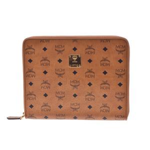 MCM clutch type ipad case Cognac men's lady's PVC A rank 美 品 Gallash Used Ginza