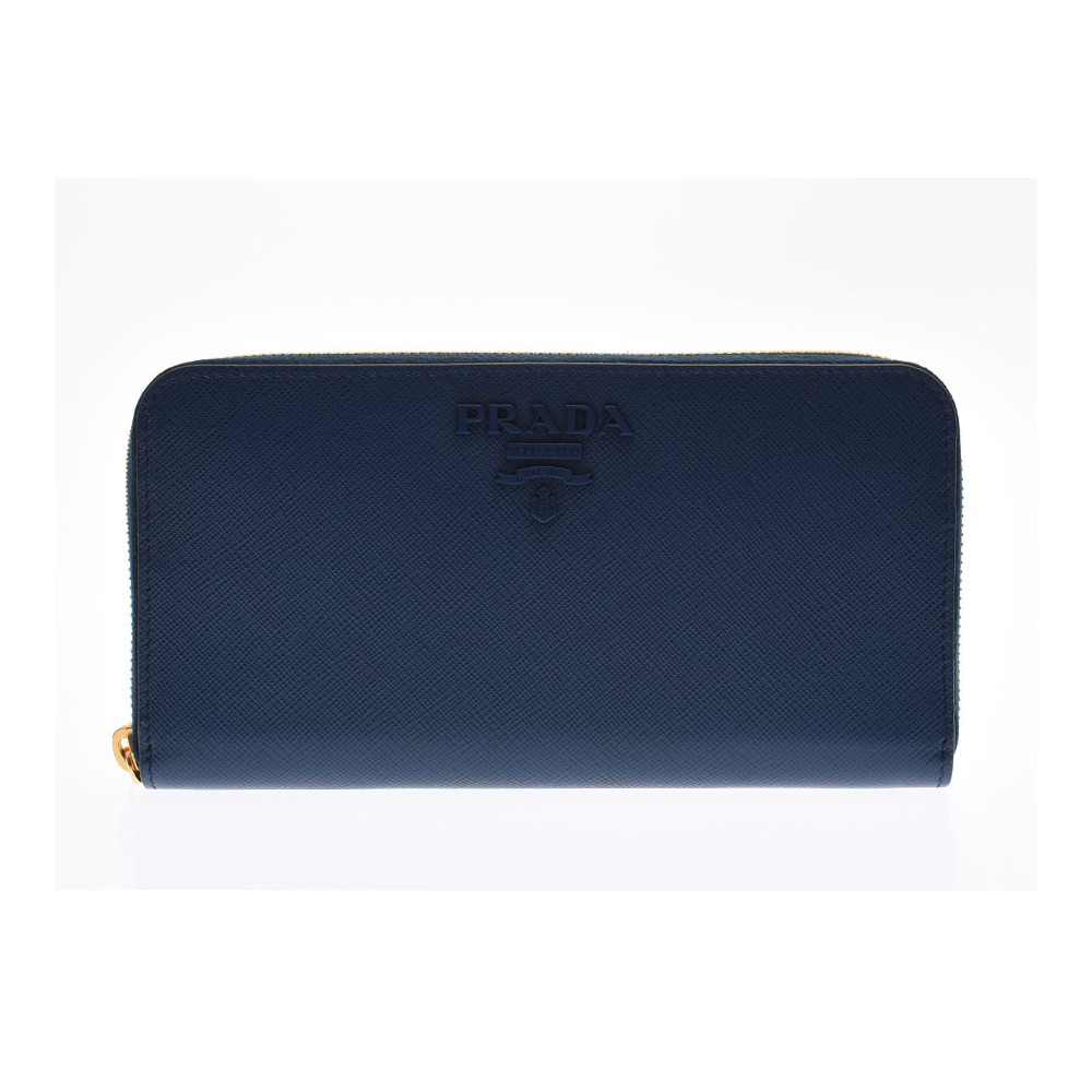 ddf1d7562421 プラダ(Prada) プラダ ラウンドファスナー長財布 ブルー 1ML506 メンズ レディース サフィアーノ 未使用