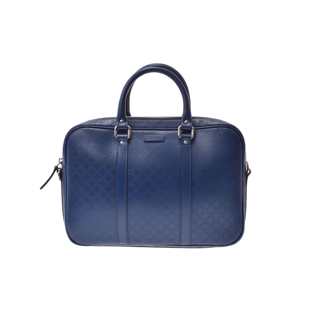 Gucci Diamante Business Bag Blue SV metal fittings Men's paper bags A rank beautiful goods GUCCI second hand silver storage
