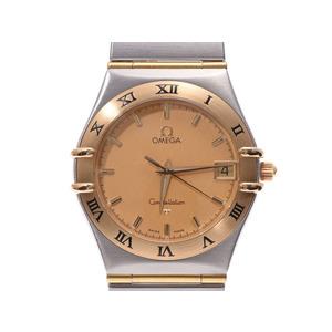 オメガ コンステレーション シャンパン文字盤 1312.10 メンズ レディース YG/SS クオーツ 腕時計 Aランク 美品 OMEGA 中古 銀蔵