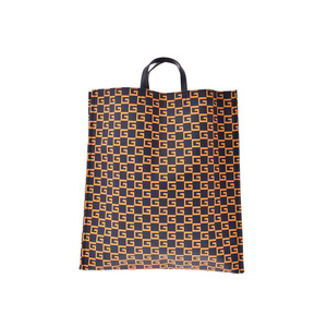 Gucci Square G Tote Blue Navy / Orange Men's Women's Supreme Leather New and the same Beauty Item GUCCI Used Ginza