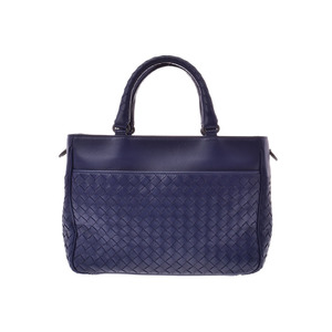 Bottega Veneta 2 WAY Handbag Intorechat Purple Ladies Lambskin A rank beautiful goods BOTTEGA VENETA strap attaching second hand silver storage