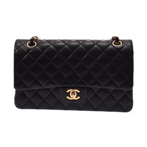 Chanel Matrasse Chain Shoulder Bag Black G Hardware Women's Lambskin A Rank CHANEL Box Gala Used Ginza
