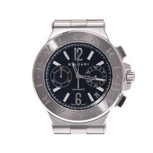 ブルガリ ディアゴノ40 クロノグラフ 黒文字盤 DG40SSDCH メンズ SS 自動巻 腕時計 Aランク BVLGARI 中古 銀蔵