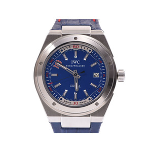 IWC Indunia Zidane Blue Dial IW 323403 1000 Men's World Limited SS / Leather Automatic Watch A Rank Beautiful Used Ginza