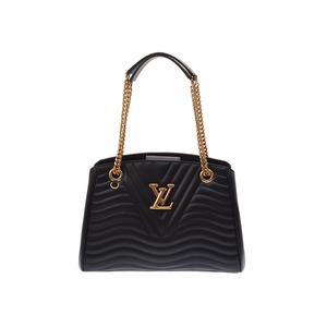 Louis Vuitton New Wave Chain Tote Bag Noir M51496 Ladies Leather unused beautiful goods LOUIS VUITTON second hand silver storage