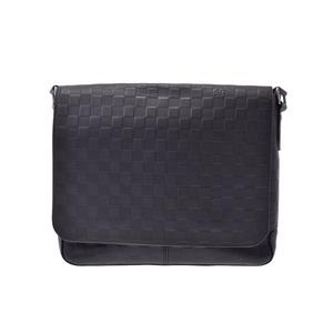 Louis Vuitton Damier Anfini District MM Black series N41284 Mens leather shoulder bag AB rank LOUIS VUITTON second hand silver storage